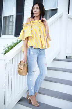 Using liketoknow.it and the cutest off the shoulder top.