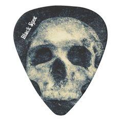 Halloween Skull Black Spot Guitar Pick - trendy gifts cool gift ideas customize
