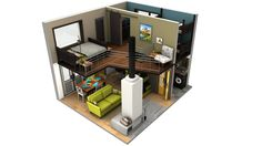 One of the best tiny house floor plans I've seen to date