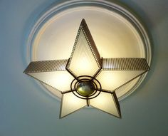 Mid Century Eames era Virden Atomic star ceiling light fixture lamp