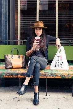 For our fashion fridays post; the TVR look we love! www.nomadsventure.com . Tasya Van Ree. Fashion. Fedoras, street style,