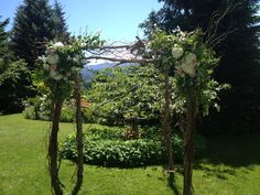 Wedding Arch by Lucy's Informal Flowers