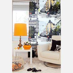 Bulevardi Curtain Orange now featured on Fab.