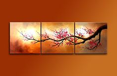 Cherish Art Hand Painted Mordern Oil Paintings Blooming Red Plum flowers Tree 3 Panels Wood Inside Framed Hanging For Home And Wall Decoration. Cherish Art http://www.amazon.com/dp/B00X5JUEJA/ref=cm_sw_r_pi_dp_VJAmwb1CRSEKD