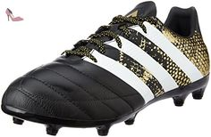 a0415fe37cb adidas Ace 16.3 Fg Leather, Chaussures de Football Homme, Noir (Core Black/