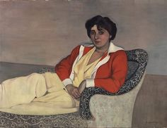 RED 'The Red Jacket' by Felix Vallotton - via MAHgeneve on Twitter. #MuseumRainbow