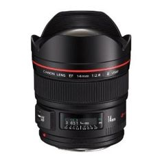 Canon EF 14mm f/2.8L II USM Ultra-Wide Angle Lens. Super wide and fast. Good for low-light shooting in a tight space.