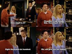 How much is it? ~ Friends Quotes ~ Season 6, Episode 23: The One with the Ring #amusementphile