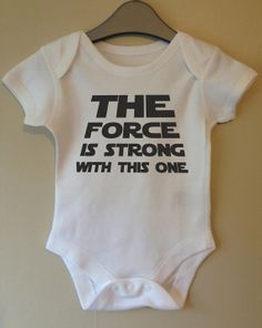 the force is strong with this one star wars cool baby body grow suit vest girl boy baby clothes gift idea funny