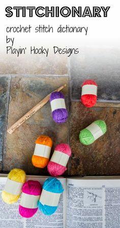 Playin' Hooky Designs: Stitch Dictionary #crochet