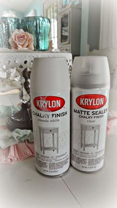For the love of white: Chalky Spray Paint