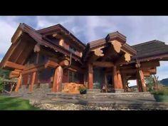 Канадский дом из бревна большого диаметра