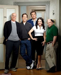 Funny troupe: The cast of Seinfeld pictured in 2009. Still love this show and watch the re-runs. Never gets old.