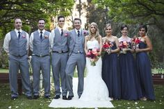 bridal party and groomsmen