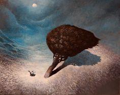 """Moonlight"" by Samuli Heimonen Land Of Enchantment, Art Things, Children's Books, Moonlight, Sculptures, Illustration Art, Posters, Paintings, Night"