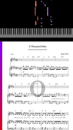 Play A Thousand Miles by Vanessa Carlton now on #piano with our sheet music. #piano #pianosheetmusic #sheetmusic #sheet #music Vanessa Carlton, Way Down, Piano Sheet Music, Pop Rocks, Words, Play, Piano Music, Horse