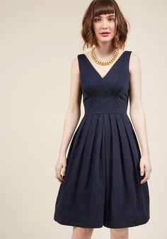 Emily and Fin Culminate in Charm Midi Dress in Navy