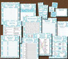 BABY SHOWER BOY BLUE GAME PACK