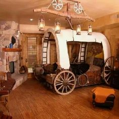 Boys Cowboy Bedroom What Little Boy Would Not Just Love This Room Covered Wagonwestern Bedroomswestern Decorwestern Kids