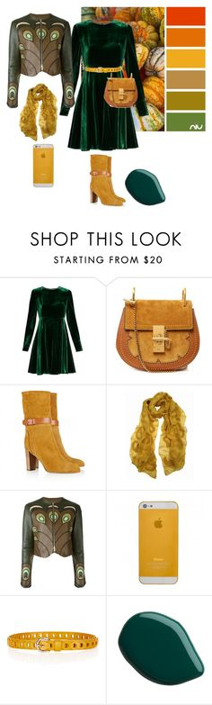 """""""Like a lives in forest"""" by subvilli ❤ liked on Polyvore featuring Sportmax, Chloé, Sergio Rossi, Sujuu, Givenchy, Étoile Isabel Marant, Fall, GREEN, mustard and falloutfit"""