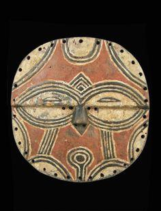 Dance mask Ng between the Tekke tribe geometric pattern