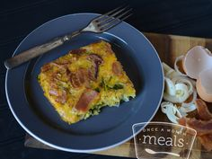 Bacon Leek and Egg Casserole - Once a Month Meals #paleo