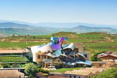Hotel Marques de Riscal is located in the medieval town of Elciego, surrounded by vineyards [ www.enjoyfoiegras.com ]