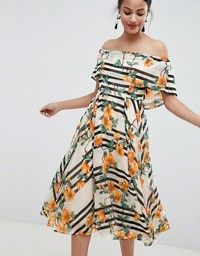 59560d3e7835 EDITION Floral Embroidered Halter Prom Midi Dress