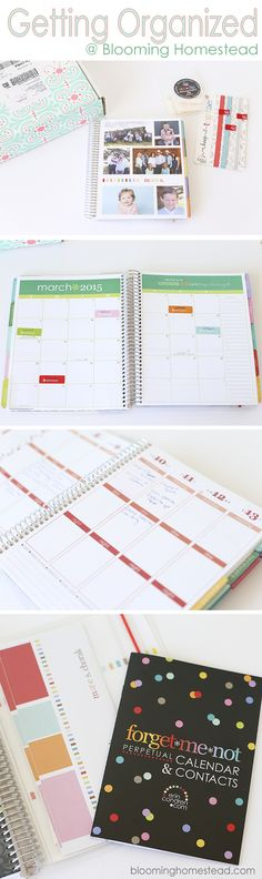 Getting Organized Planner at Blooming Homestead