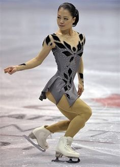 Akiko Suzuki  -Grey Figure Skating / Ice Skating dress inspiration for Sk8 Gr8 Designs.