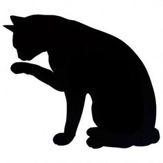 Black Cat Silouette...  looks like Mr.Pickles! #Cats