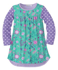 82878597a4de Look at this Teal & Lavender Floral Tunic - Toddler & Girls by Sunshine  Swing