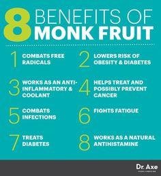 Monk fruit benefits - Dr. Axe http://www.draxe.com #health #Holistic #natural