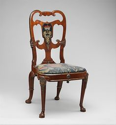 Pair of English Walnut side chairs Attributed to Thomas How (British, active 1710–33)