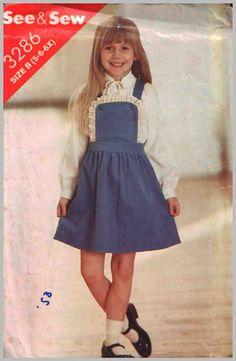Butterick Sewing Pattern 3286 Girls' Jumper  Size:  B 5-6-6X Uncut