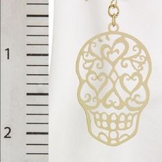Laser cut calavera ornate earrings Laser cut calavera ornate earrings cute for spring summer beach concert festival coachella wear Jewelry Earrings
