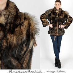 Vintage 70s Black Apres Ski Yeti Goat Fur by americanarchive, $172.00