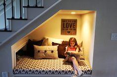 Under Stairs Reading Nook
