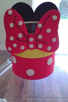 de princesa Mickey E Minnie Mouse, Mini Mouse, Mouse Parties, Flower Pots, Alice, Birthday, Disney, Crafts, Milk Can Decor