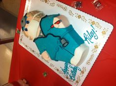 Scrubs uniform cake. Creative idea for medical student or nursing student when they graduate!