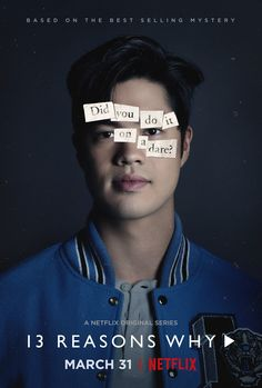 Ross Butler as Zach Dempsey. 13 Reasons Why character poster from season Photo: 13 Reasons Why Trailer, 13 Reasons Why Zach, 13 Reasons Why Poster, 13 Reasons Why Quotes, 13 Reasons Why Netflix, Thirteen Reasons Why, Ross Butler 13 Reasons Why, Shows On Netflix, Netflix Series