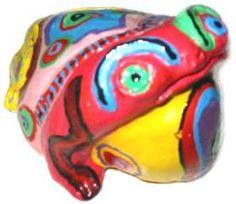 Trabalhos em cerâmica (pintura) a frio. Peças decorativas e utilitárias - Ceramic works (painting) cold. Decorative and utilitarian pieces