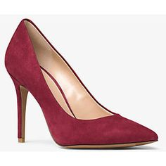 For the Gianvito Rossi Burgundy Suede Pumps