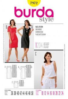 47b9e6ccb01 B7972 Patron T Shirt, Pattern Books, Pattern Paper, Patron Burda, Pattern  Fashion