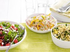 Toss together one of these fresh and easy combos from Food Network Magazine for your next party.