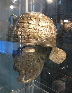 Decorated cavalry helmet type Weiler; Xanten)