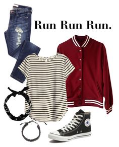 """""""BTS Run MV"""" by casuallykpop ❤ liked on Polyvore featuring H&M and Converse"""