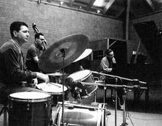 Shelly Manne, Eddie Gomez, Bill Evans. Recording for A Simple Matter of Conviction'?
