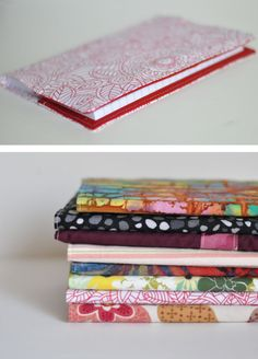 Sewn Book Cover 12 Kids always need their books covered and we always do terrible at it. Diy Sewing Projects, Sewing Hacks, Sewing Tutorials, Sewing Crafts, Sewing Ideas, Fabric Crafts, Sewing Patterns, Diy Notebook, Notebook Covers