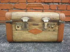 50% off with coupon  Vintage Towncraft/ Tweed Luggage/ Leather Luggage/ by Binzorama, $25.00